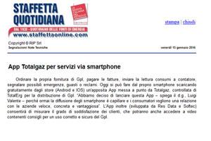 App Totalgaz per servizi via smartphone